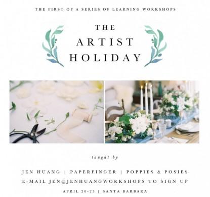 Flower Workshop Santa Barbara calligraphy photography