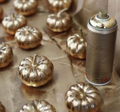 gold pumpkins