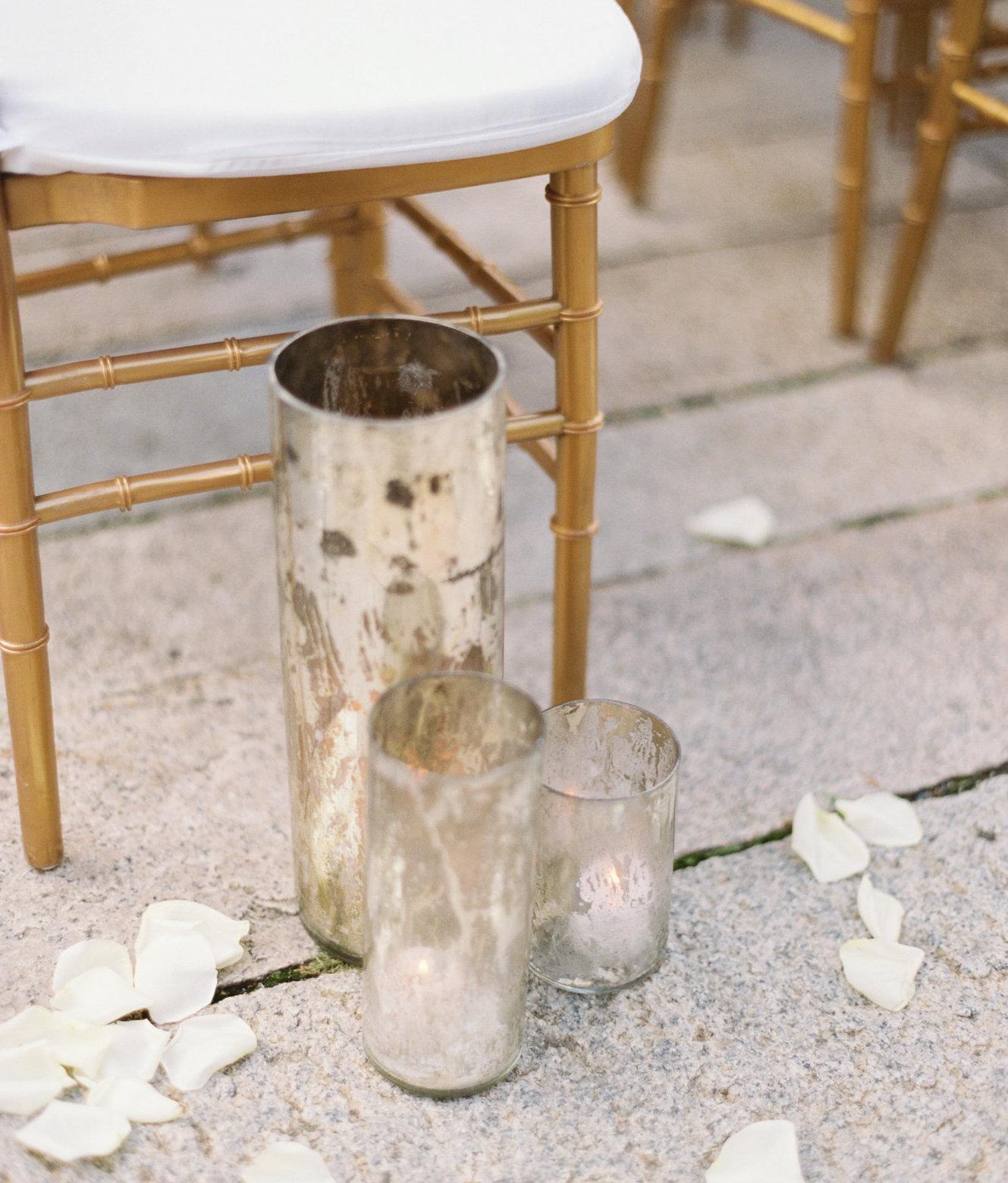 Mercury Glass Cylinders Rentals weddings NYC
